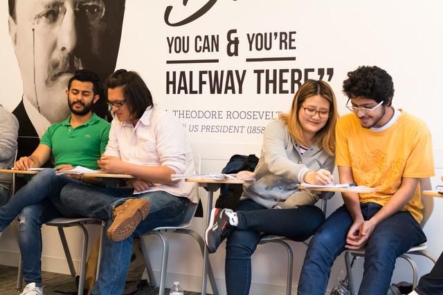 Adult School Students