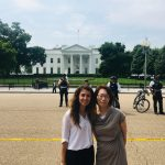 Luljeta and Junko at the White House