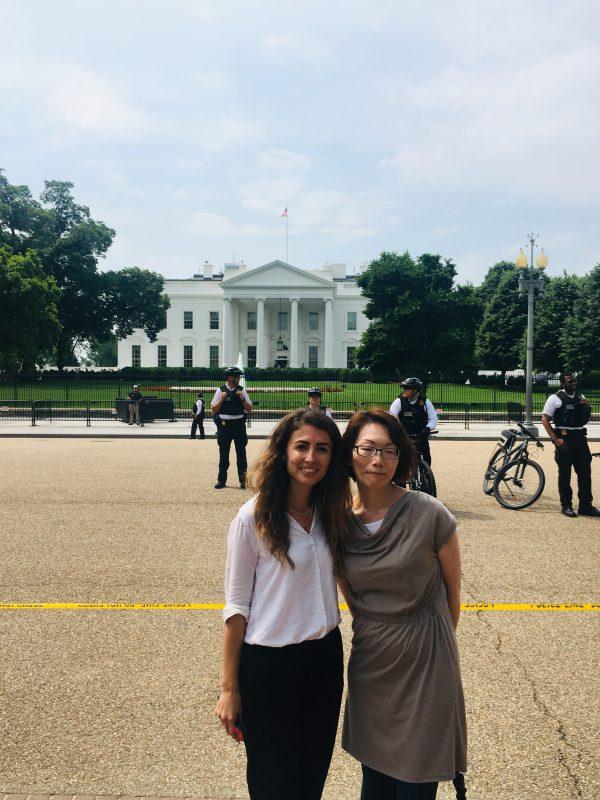 Luljeta and Junko at the White House