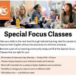 Special Focus Classes at EC