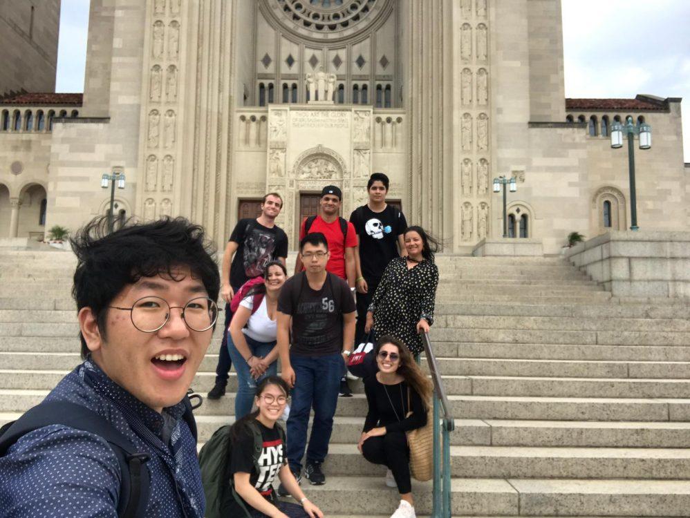 Students at the Basilica