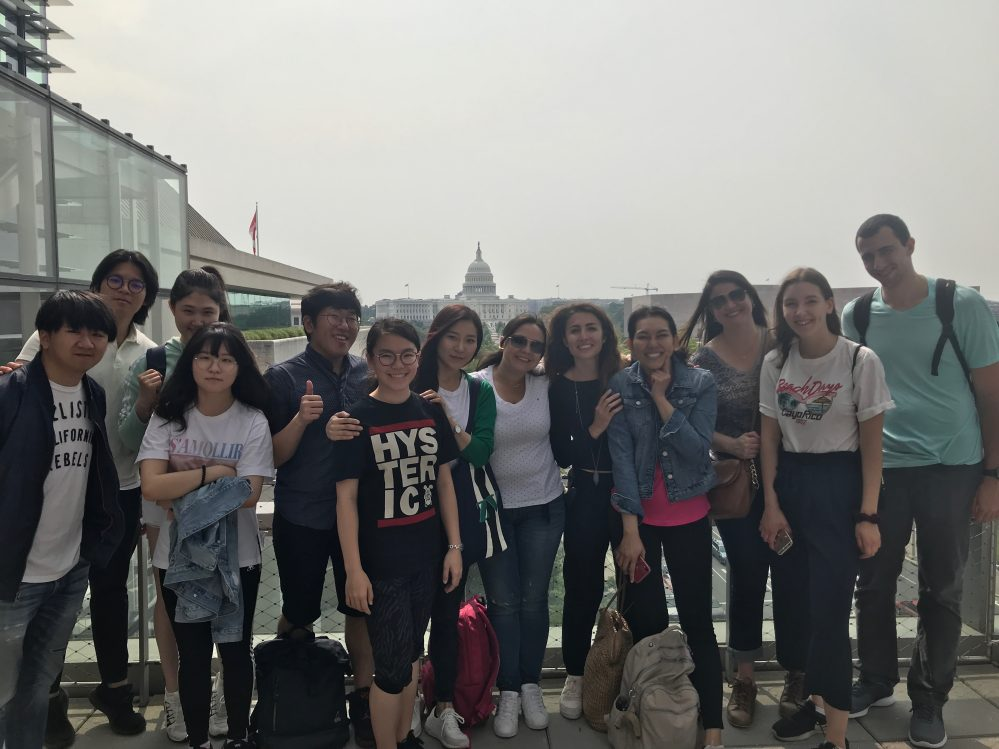 Students at the Newseum