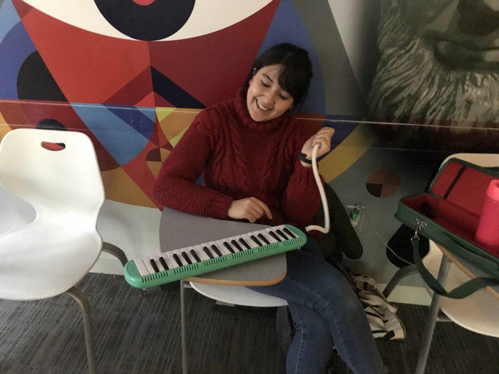 EC students making music