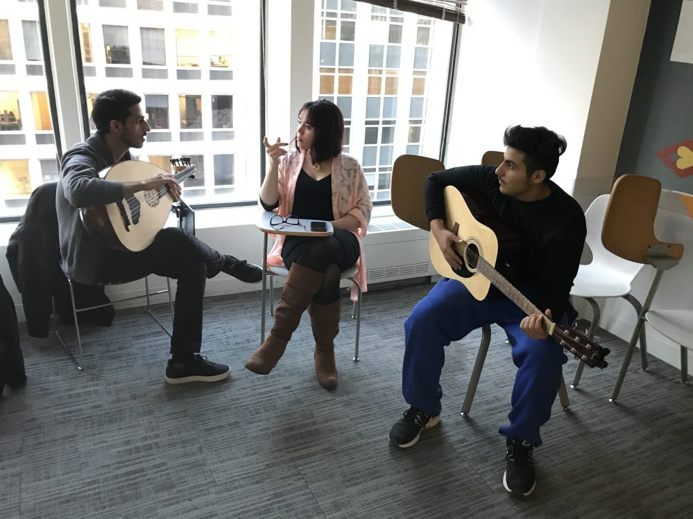 EC students playing music