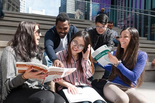 estudantes em Boston