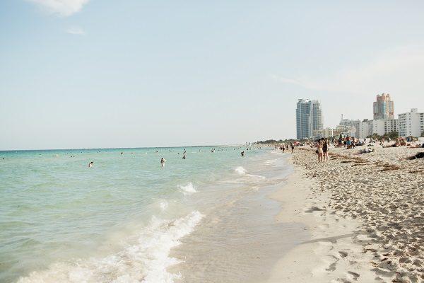 O mar de Miami