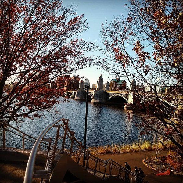 uma vista de Boston