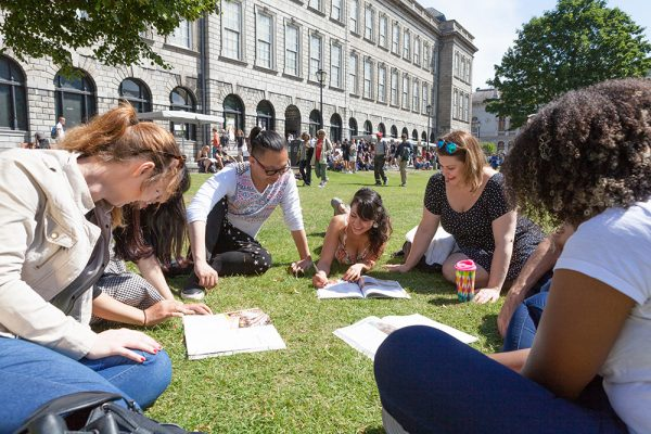 Students learning English in Dublin