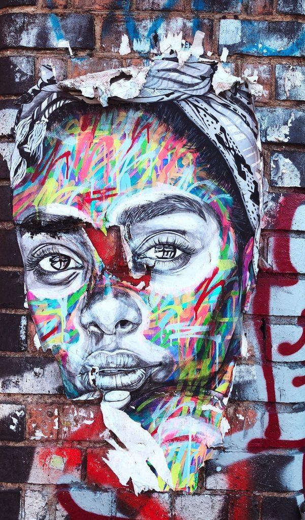 Graffiti of girl