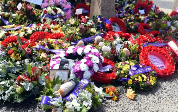 Floral wreathes Melbourne English school Remembrance Day