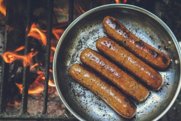 Snags on the barbie in Melbourne Australia