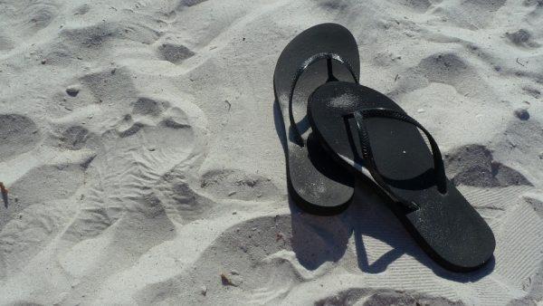 Australian thongs on a Melbourne beach