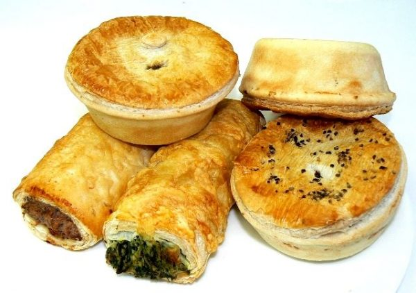Meat pie and sausage roll comfort food